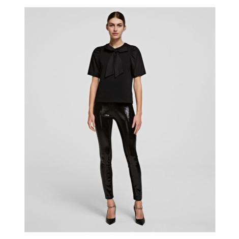 Legíny Karl Lagerfeld Sequin Leggings - Černá
