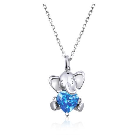 Linda's Jewelry Stříbrný náhrdelník Sloní Láska Ag 925/1000 INH080