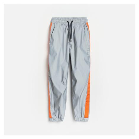 Reserved - Kalhoty z reflexní látky - Světle šedá