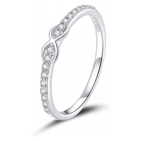 Linda's Jewelry Stříbrný prsten Infinite Nekonečno Ag 925/1000 IPR066 Velikost: 57
