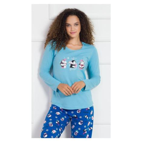 Dámské pyžamo dlouhé Winter, XL, malinová Vienetta Secret