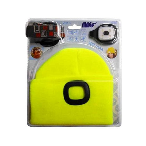MAGG Čepice s LED světlem - reflexní žlutá