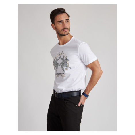 Tričko La Martina Man Tshirt S/S Jersey - Bílá