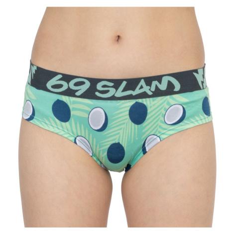 Dámské kalhotky 69SLAM boxer bamboo coco blue