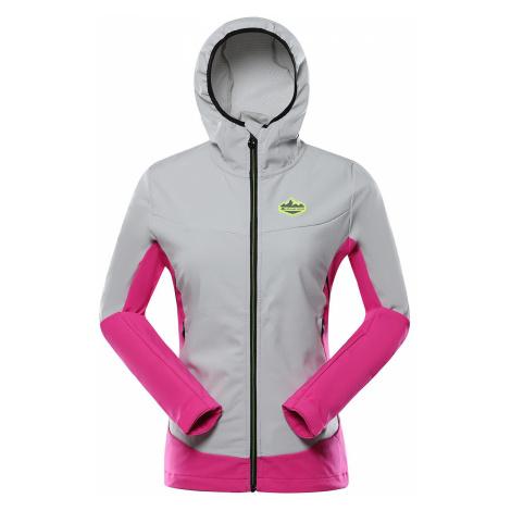 Dámská softshellová bunda Alpine Pro SLUNA - šedo-růžová
