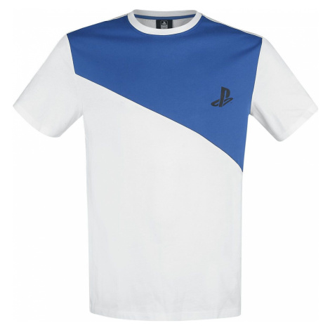 Playstation Tričko bílá/modrá