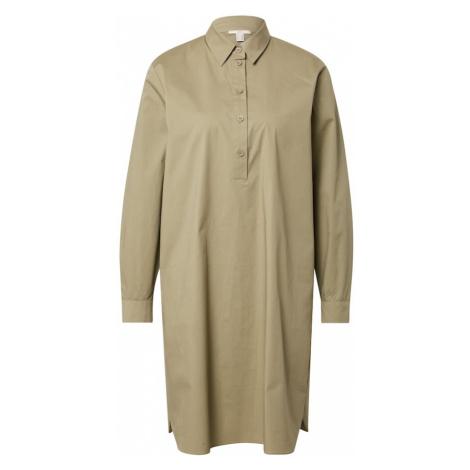 EDC BY ESPRIT Košilové šaty olivová