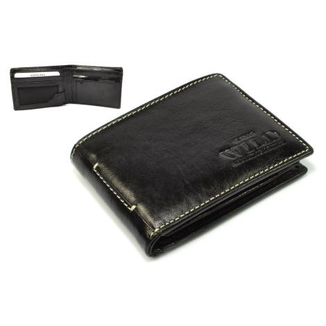 Černá peněženka pánská kožená Wild