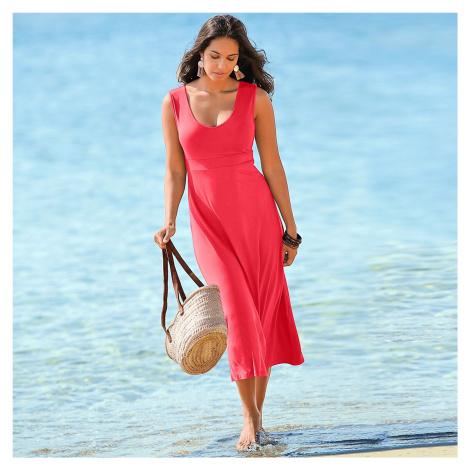 Blancheporte Dlouhé jednobarevné šaty korálová