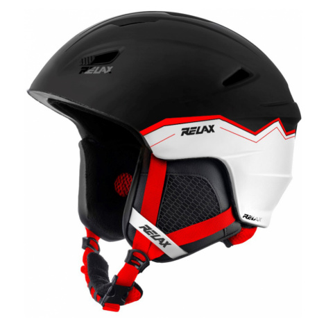RELAX WILD Lyžařská helma RH17X černo bílá