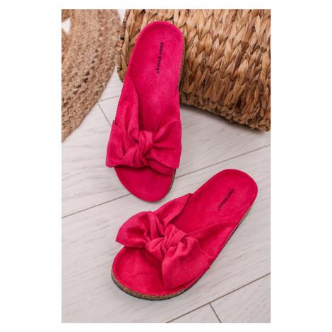 Fuchsiové semišové pantofle Shelby Ideal