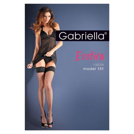 Samodržící síťované punčochy Gabriella