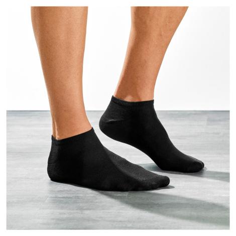 Blancheporte Sportovní nízké ponožky, sada 5 párů černá