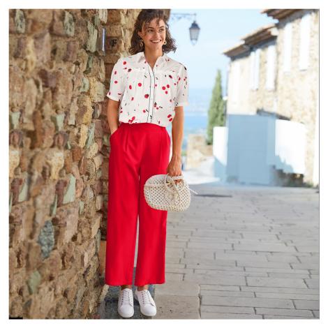 Blancheporte Vzdušné kratší kalhoty červená