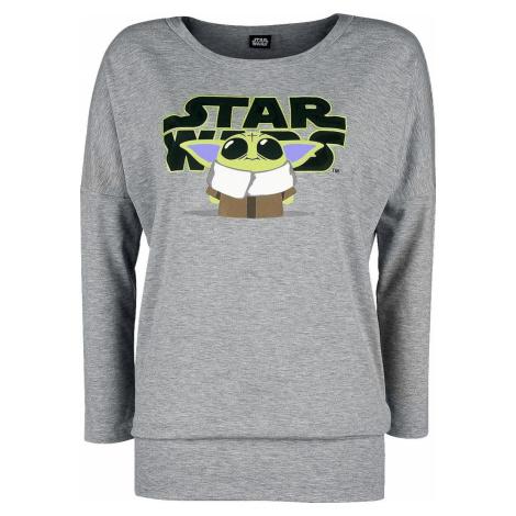 Star Wars The Mandalorian - Cute Child - Grogu Dámské tričko s dlouhými rukávy prošedivelá
