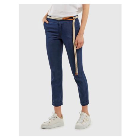Kalhoty La Martina Woman Lurex Denim Pant - Modrá
