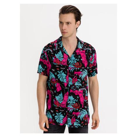 Miami Print Camp Košile Tommy Jeans Modrá Tommy Hilfiger