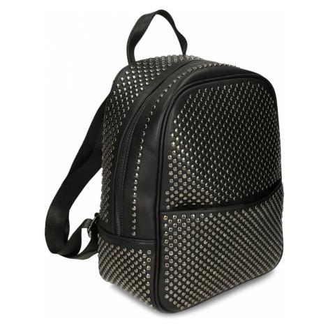 Černý malý pokovaný batoh Baťa