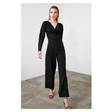 Dámské kalhoty Trendyol TWOSS20PL0294/NACY