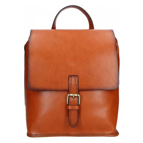 Elegantní dámský kožený batoh Katana Petra - světle hnědá