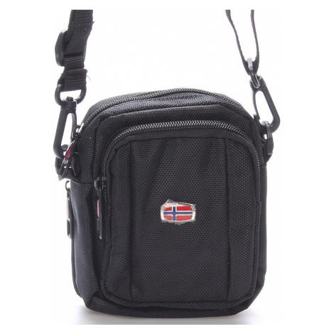 Malá dokladová unisex černá taška na opasek - New Rebels Ross