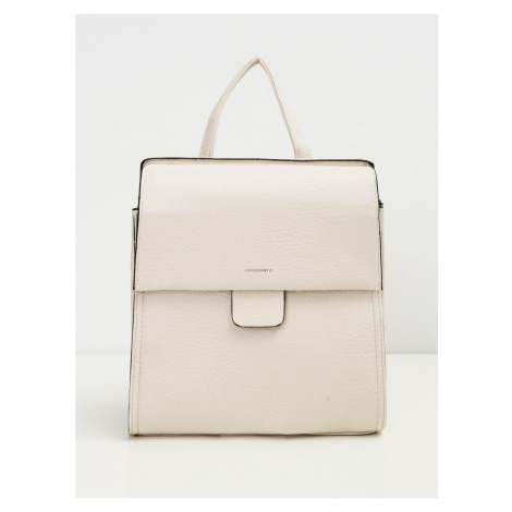 Women´s backpack with a flap and cream handle Fashionhunters