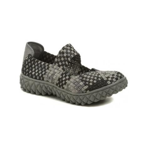 Rock Spring OVER šedo černá dámská gumičková obuv Béžová