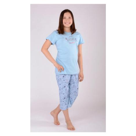 Dětské pyžamo kapri Vienetta Secret Jezevčík | modrá