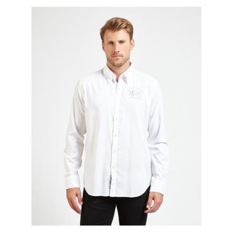 Košile La Martina Man Shirt L/S Oxford Stretch - Bílá