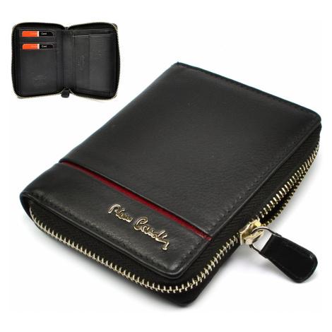 Černá pánská peněženka na zip Pierre Cardin