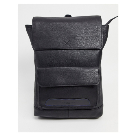 Silver Street scandi smooth leather bag-Black