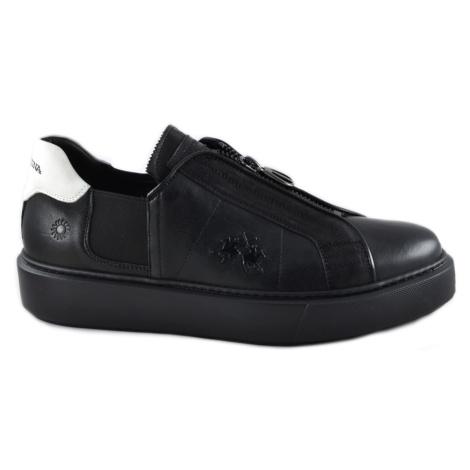 Tenisky La Martina Man Shoes Queen Black - Černá