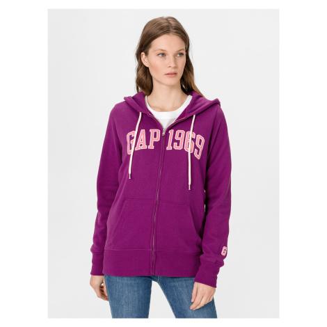 GAP fialová dámská mikina s logem