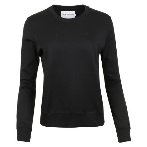 Dámská černá mikina bez kapuce Calvin Klein