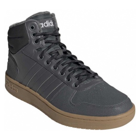 adidas HOOPS 2.0 MID šedá - Pánská volnočasová obuv