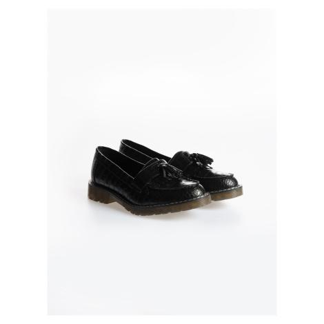 GATE Boty loafers z imitace kůže se strurkturou