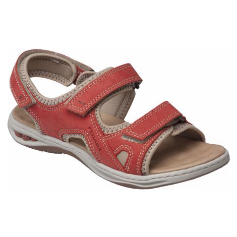Pegada Dámská otevřená vycházková obuv Červená