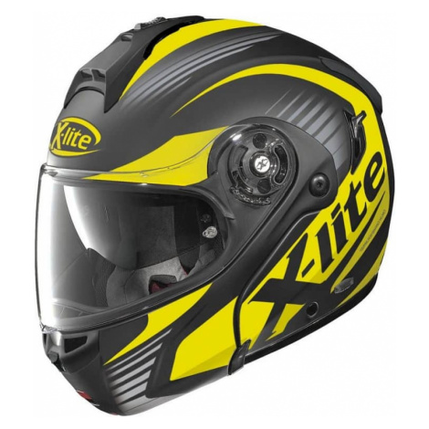 Moto helma X-Lite X-1004 Nordhelle N-Com Flat Black-Yellow Barva černo-žlutá