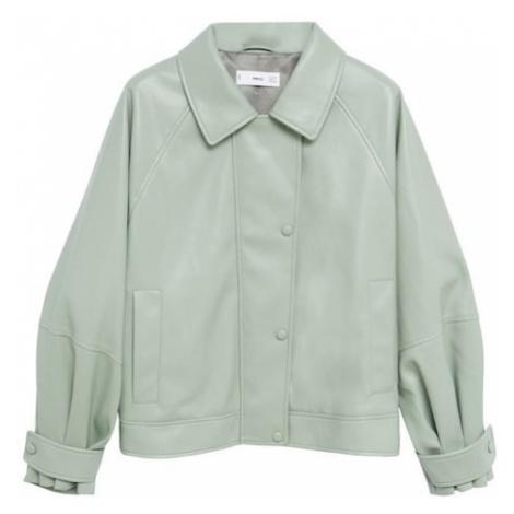 MANGO Přechodná bunda svítivě zelená