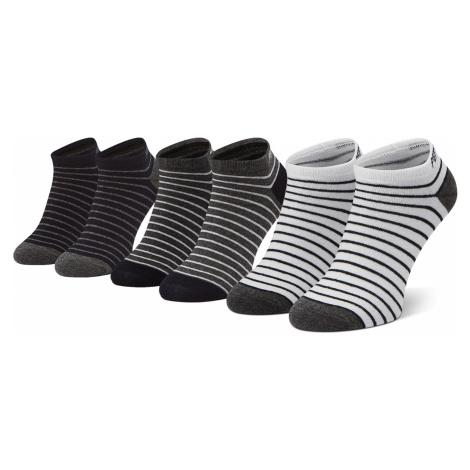 Sada 3 párů pánských nízkých ponožek PEPE JEANS - Delbert PMU10707 Charcoal/White/Navy 0AA