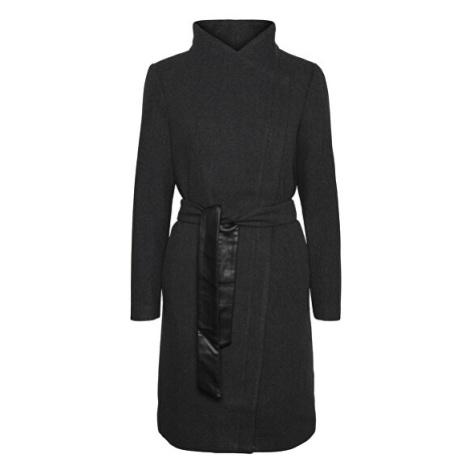 Vero Moda Dámský kabát VMCLASSMEGAN Dark Grey Melange