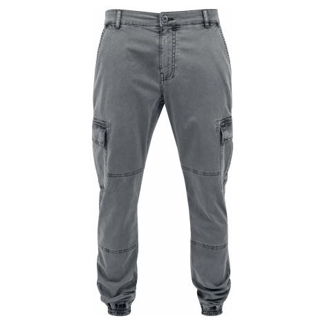 Urban Classics Keprové joggingové kapsáče s opraným efektem Cargo kalhoty šedá