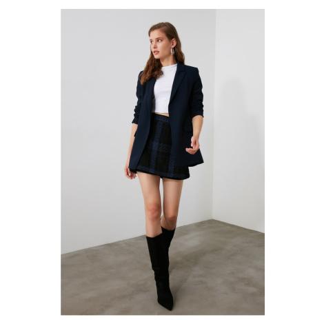 Trendyol Black Tweed Shorts & Bermuda