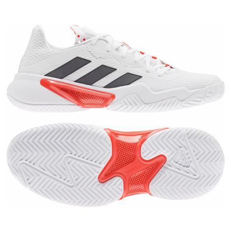 Dámská tenisová obuv adidas Barricade W White/Black/Red