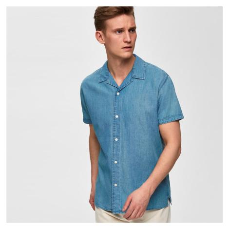 Džínová košile s krátkým rukávem Slim Nolan Selected