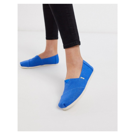 Toms alpargata summer shoes in blue