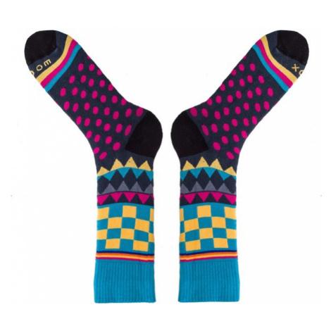 Ponožky Soccus Geometricum Fuchsia Woox