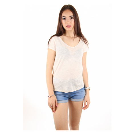 Pepe Jeans dámské smetanové tričko
