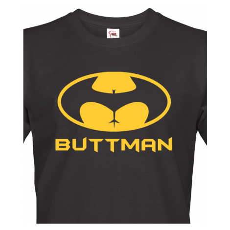Pánské tričko s potiskem Buttman - parodie na trika Batman