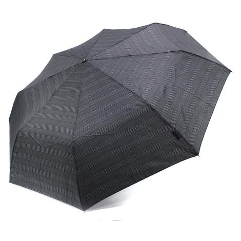 Černošedý mechanický skládací pánský deštník Therron Doppler